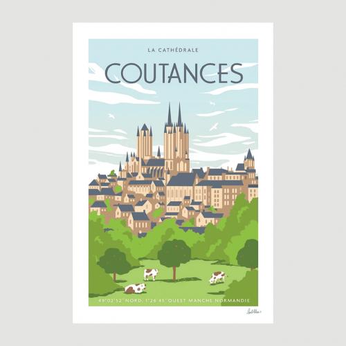 Affiche Coutances - L'Oeil Bleu