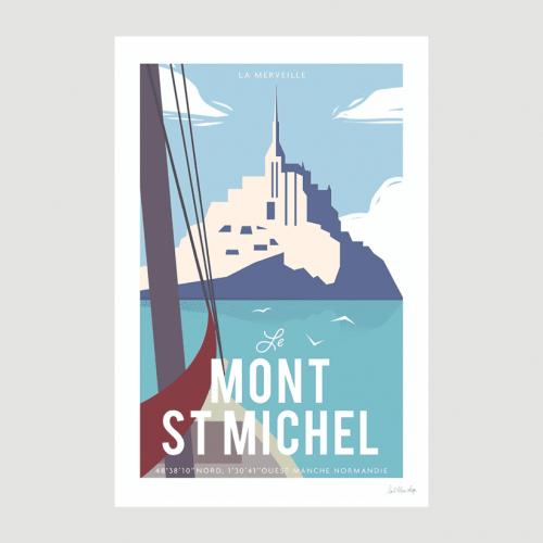 Affiche le Mont Saint-Michel - L'Oeil Bleu
